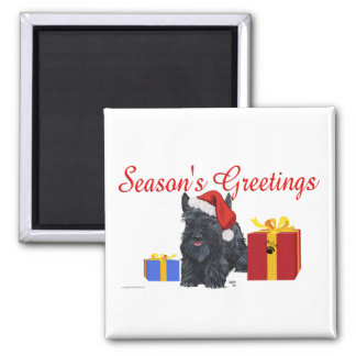 Playful Scottish Terrier Greetings Magnets