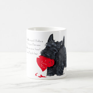 Playful Scottish Terrier Valentine Mug