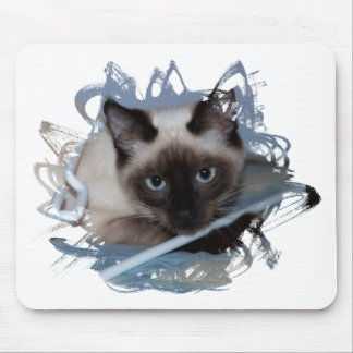 Playful Siamese Mouse Pad