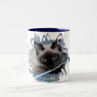 Playful Siamese Two-Tone Mug