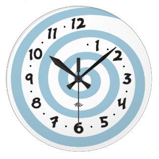 Playful Spiral Large Clock
