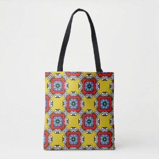 Playful Squares Tote Bag