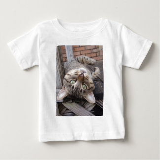 Playful Striped Feral Tabby Cat Baby T-Shirt