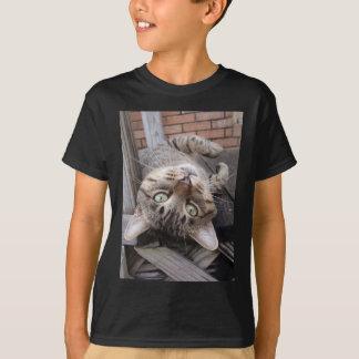 Playful Striped Feral Tabby Cat T-Shirt