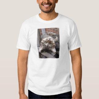 Playful Striped Feral Tabby Cat Tshirts