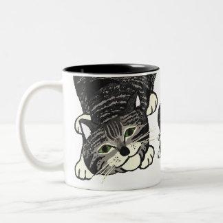 Playful Tabby Kitten 2 Coffee Mugs