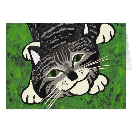 Playful Tabby Kitten Card