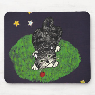 Playful Tabby Kitten Mouse Pad