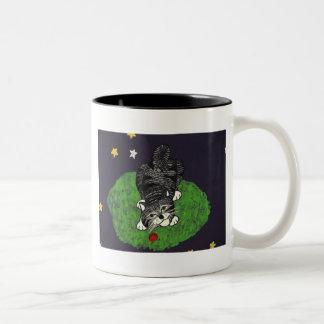 Playful Tabby Kitten Two-Tone Mug