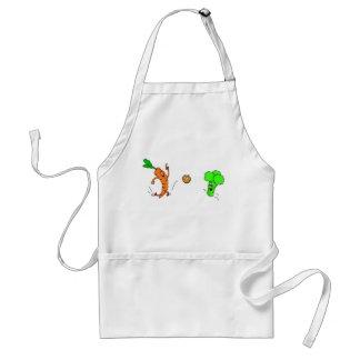 Playful vegetables apron