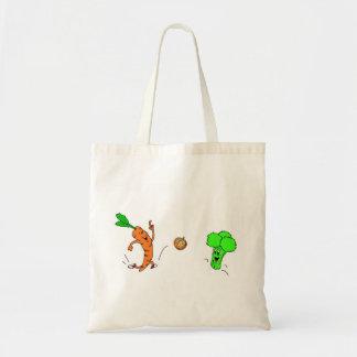 Playful vegetables tote bag