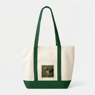 Playful Weimaraner Dog Canvas Tote Bag