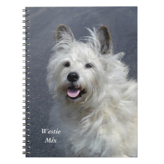 Playful West Highland Terrier Notebook