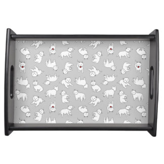 Playful Westies Serving Tray