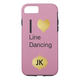 Playfully Elegant I Heart Line Dancing iPhone 7 Case