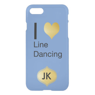 Playfully Elegant  I Heart Line Dancing iPhone 7 Case