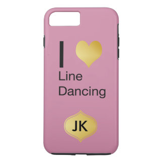 Playfully Elegant I Heart Line Dancing iPhone 7 Plus Case