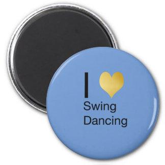 Playfully Elegant  I Heart Swing Dancing Magnet
