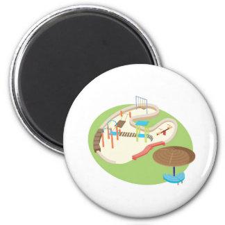 playground 6 cm round magnet