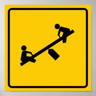 Playground Area Highway Sign