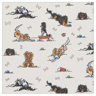 Playground Cavalier CKCS Spaniels White Fabric