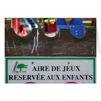 Playground for Children 1 Reserve aux Enfants card