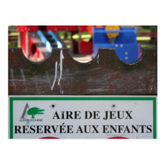 Playground for Children 1 Reserve aux Enfants Postcard