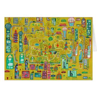 Playground painting - greetings card