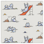 Playground Samoyeds White Fabric