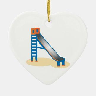 Playground Slide Ceramic Heart Decoration