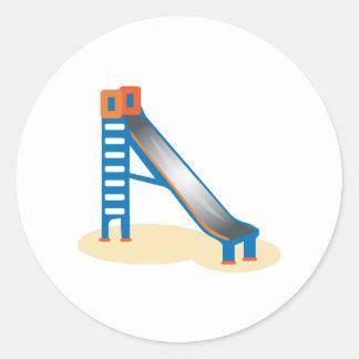 Playground Slide Round Stickers