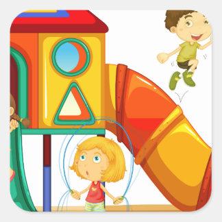 Playground Square Sticker