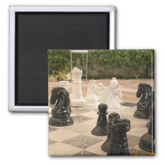 Playing a game of Chess Magnet