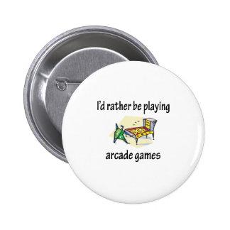 Playing Arcade Games 6 Cm Round Badge
