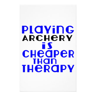 Playing Archery Cheaper Than Therapy Personalised Stationery