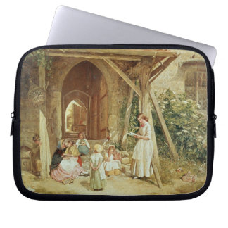 Playing at Schools, 1857 (oil on panel) Laptop Sleeve