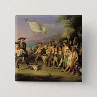 Playing at Soldiers, Roman Revolution 1848 15 Cm Square Badge