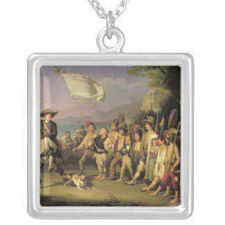 Playing at Soldiers, Roman Revolution 1848 Silver Plated Necklace