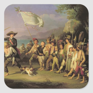 Playing at Soldiers, Roman Revolution 1848 Stickers