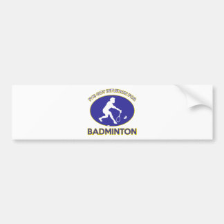 Playing  badminton bumper stickers
