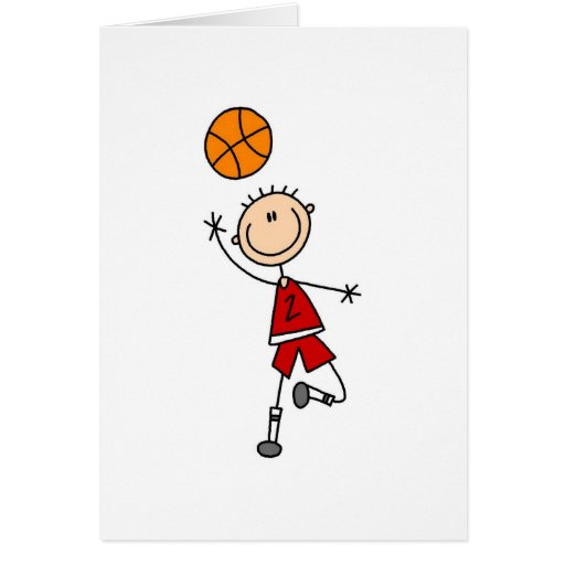 Playing Basketball Card