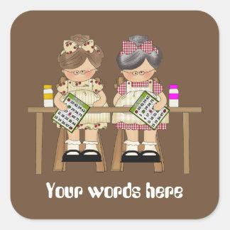 Playing Bingo customizable fun add words sticker