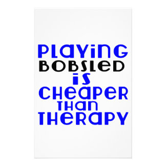 Playing Bobsled Cheaper Than Therapy Personalized Stationery