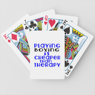 Playing Boxing Cheaper Than Therapy Poker Deck