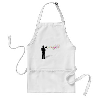 Playing Brass Instrument Aprons