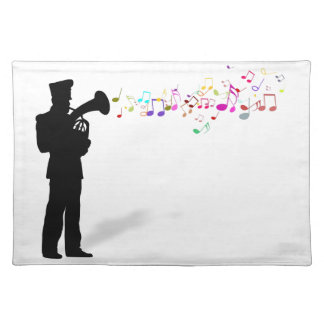Playing Brass Instrument Place Mat