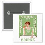 Playing Bridge Pinback Button