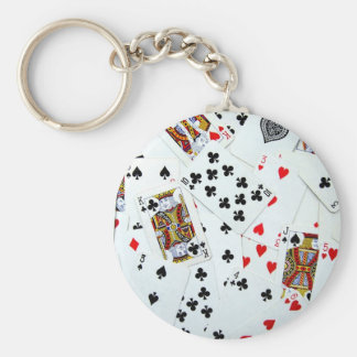 Playing Card games Basic Round Button Key Ring