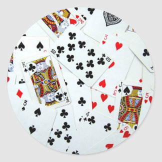 Playing Card games Round Sticker