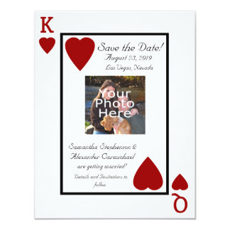 Playing Card King/Queen Photo Save the Date